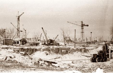 Стройплощадка по адресу Молодогвардейская, 222.