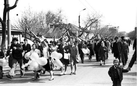 Куйбышев 1 мая 1976 года студенты на демонстрации