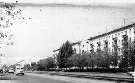 Гагарина начало 1960-х, еще нет поворота на Энтузиастов и филиала Самара
