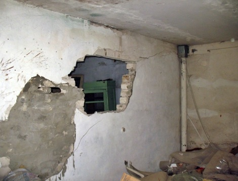 снова подломы стен